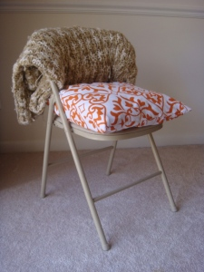 { chair cushion, after }